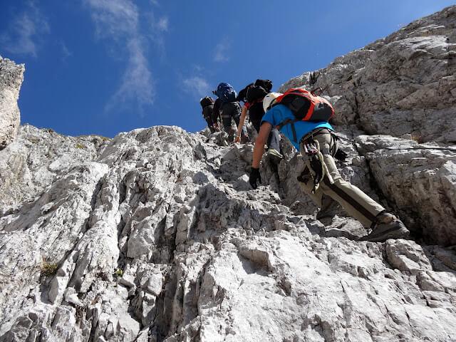Klettersteig Lamsenspitze : Tour auf die lamsenspitze karate usc münchen